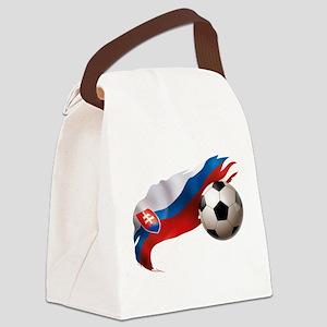 Slovakia Soccer Canvas Lunch Bag
