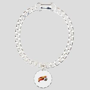Spain Soccer Charm Bracelet, One Charm