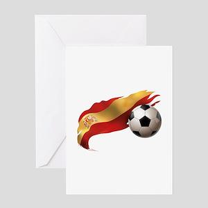 Spain Soccer Greeting Card