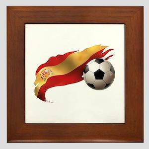 Spain Soccer Framed Tile