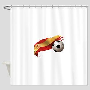 Spain Soccer Shower Curtain
