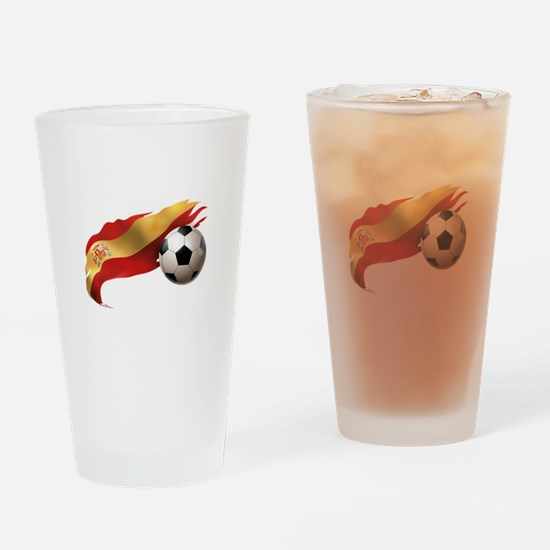 Spain Soccer Drinking Glass