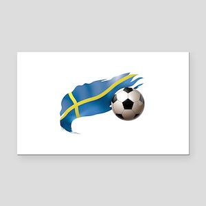 Sweden Soccer Rectangle Car Magnet