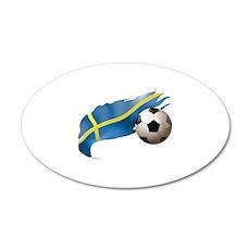 Sweden Soccer 22x14 Oval Wall Peel
