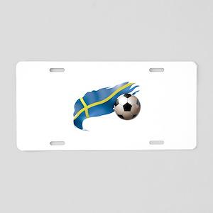 Sweden Soccer Aluminum License Plate