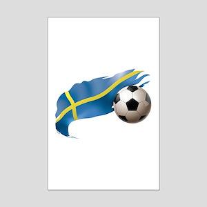 Sweden Soccer Mini Poster Print