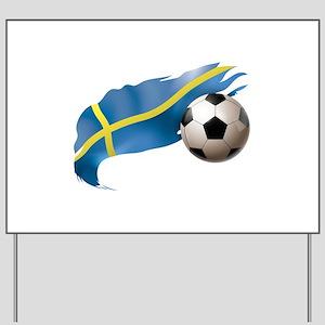Sweden Soccer Yard Sign
