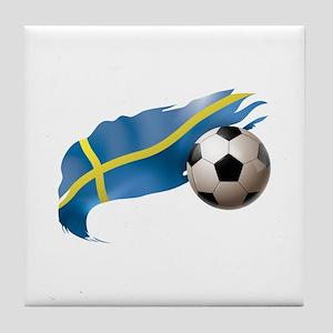 Sweden Soccer Tile Coaster