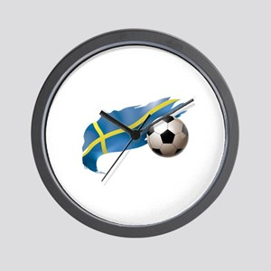 Sweden Soccer Wall Clock