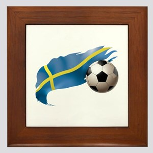Sweden Soccer Framed Tile