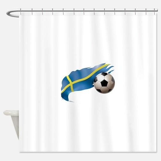 Sweden Soccer Shower Curtain