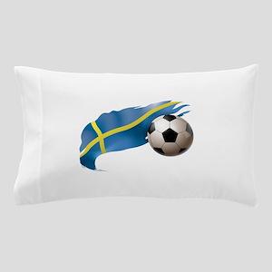 Sweden Soccer Pillow Case