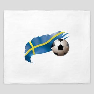 Sweden Soccer King Duvet