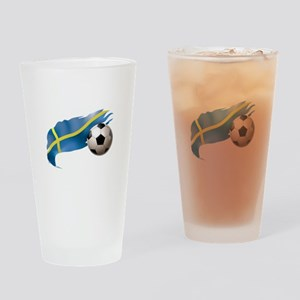 Sweden Soccer Drinking Glass