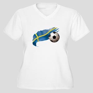 Sweden Soccer Women's Plus Size V-Neck T-Shirt