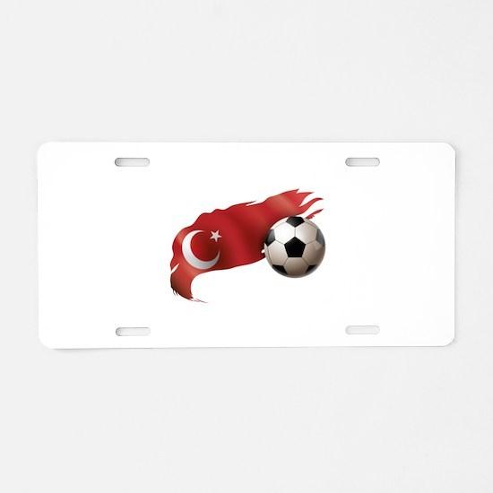 Turkey Soccer Aluminum License Plate