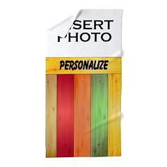 Custom Colorful Photo Beach Towel