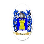 Towers Oval Car Magnet