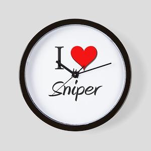 I Love My Sniper Wall Clock