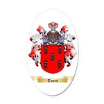 Tours Oval Car Magnet