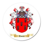Tours Round Car Magnet