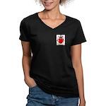 Tournois Women's V-Neck Dark T-Shirt