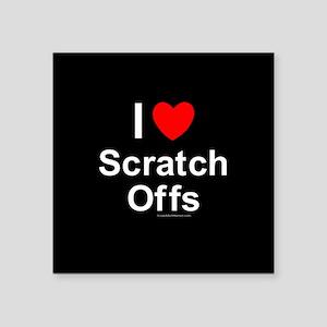 """Scratch Offs Square Sticker 3"""" x 3"""""""