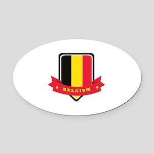 Belgium Oval Car Magnet
