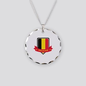Belgium Necklace Circle Charm