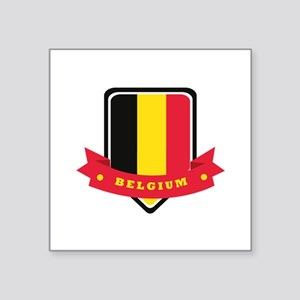 "Belgium Square Sticker 3"" x 3"""