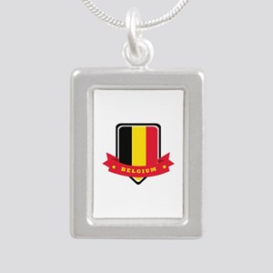 Belgium Silver Portrait Necklace