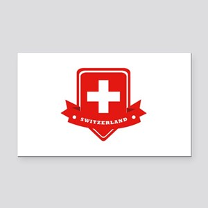 Switzerland Rectangle Car Magnet