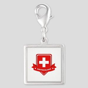 Switzerland Silver Square Charm