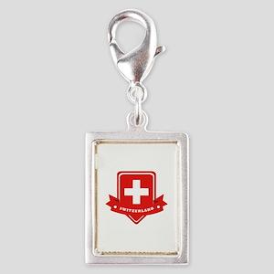 Switzerland Silver Portrait Charm