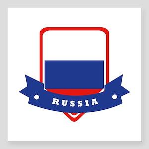 "Russia Square Car Magnet 3"" x 3"""