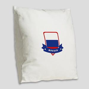 Russia Burlap Throw Pillow