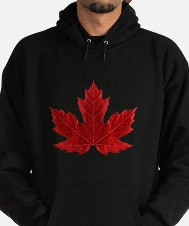 Red Maple Leaf Hoodie (dark)