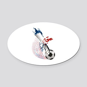 France Soccer Oval Car Magnet