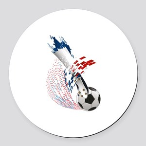 France Soccer Round Car Magnet