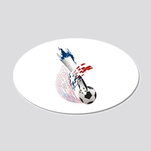 France Soccer 22x14 Oval Wall Peel