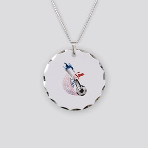 France Soccer Necklace Circle Charm