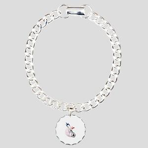 France Soccer Charm Bracelet, One Charm