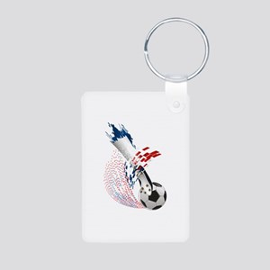 France Soccer Aluminum Photo Keychain