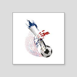 "France Soccer Square Sticker 3"" x 3"""