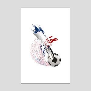 France Soccer Mini Poster Print