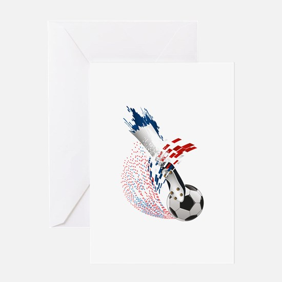 France Soccer Greeting Card