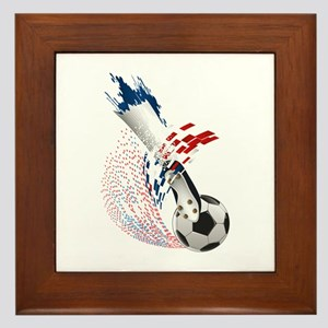 France Soccer Framed Tile