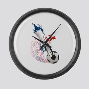 France Soccer Large Wall Clock
