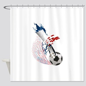 France Soccer Shower Curtain