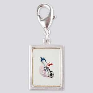 France Soccer Silver Portrait Charm